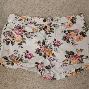 White Floral Forever21 Denim Jeans